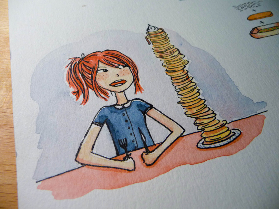 Illustration de pancakes
