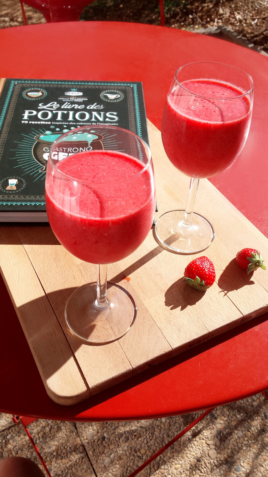 Smoothie aux fruits rouge