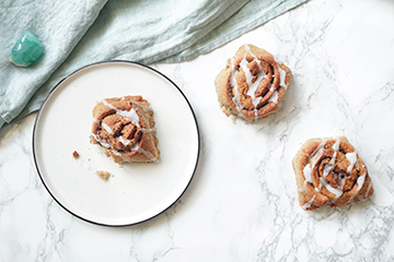 Cinnamon rolls vegan avec alternative gluten free !